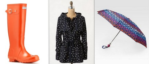 Hunter Boots, Daughter's of the Liberations  Anorak, Marc Jacobs Spectacle Umbrella