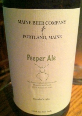 Maine Beer Company Peeper Ale